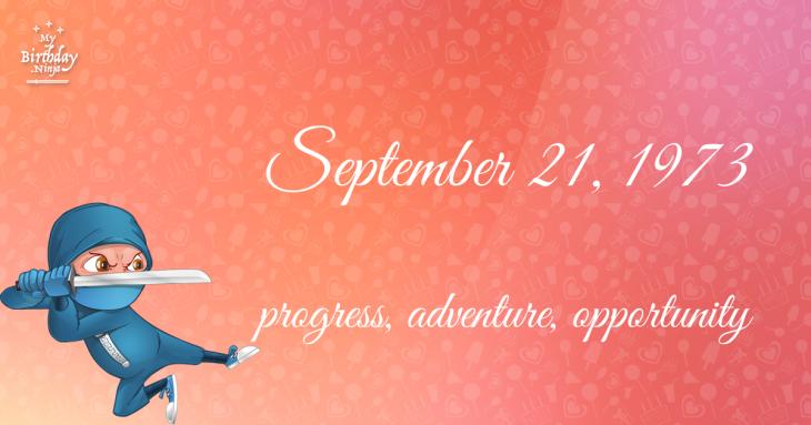 September 21, 1973 Birthday Ninja