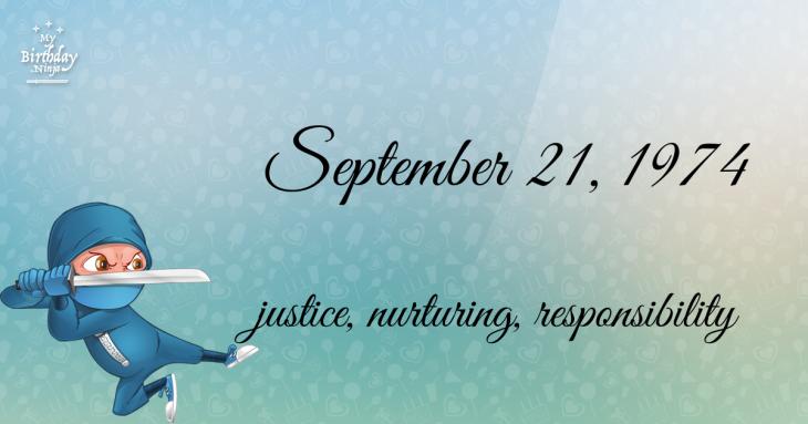 September 21, 1974 Birthday Ninja