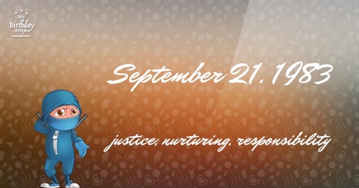 September 21, 1983 Birthday Ninja