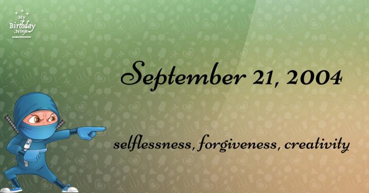 September 21, 2004 Birthday Ninja