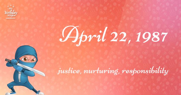 April 22, 1987 Birthday Ninja