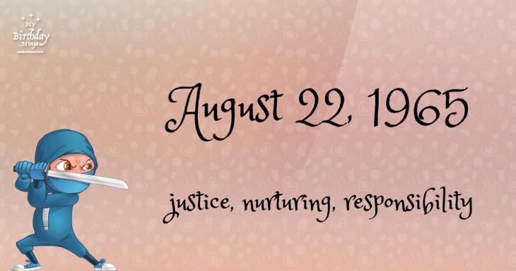 August 22, 1965 Birthday Ninja
