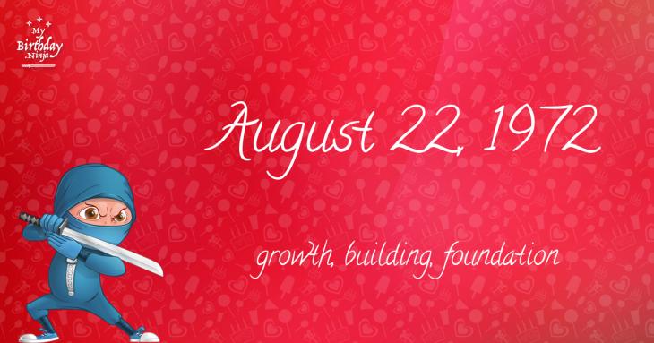 August 22, 1972 Birthday Ninja