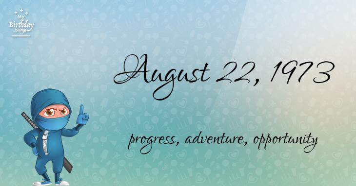 August 22, 1973 Birthday Ninja
