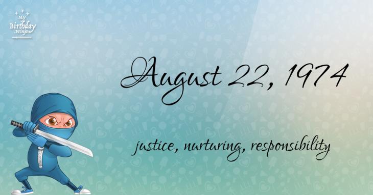 August 22, 1974 Birthday Ninja