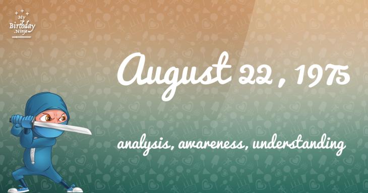 August 22, 1975 Birthday Ninja