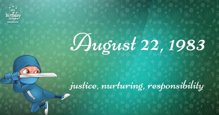 August 22, 1983 Birthday Ninja