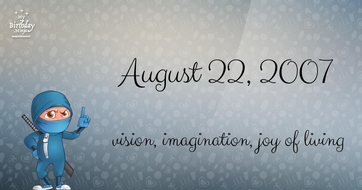 August 22, 2007 Birthday Ninja Poster