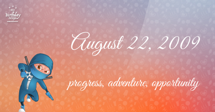 August 22, 2009 Birthday Ninja