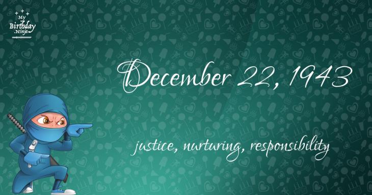 December 22, 1943 Birthday Ninja
