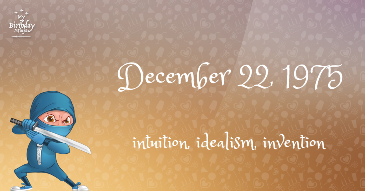 December 22, 1975 Birthday Ninja