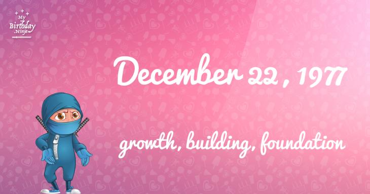 December 22, 1977 Birthday Ninja