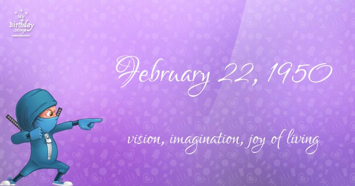 February 22, 1950 Birthday Ninja