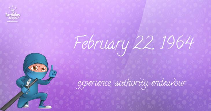 February 22, 1964 Birthday Ninja