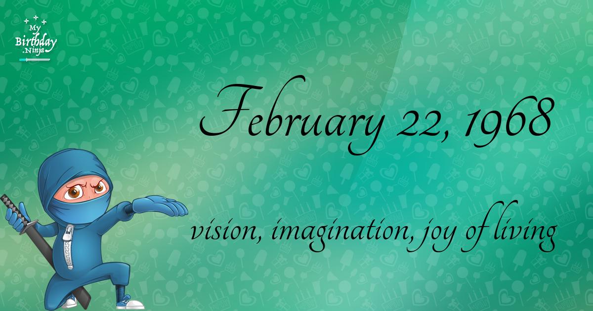 February 22, 1968 Birthday Ninja Poster
