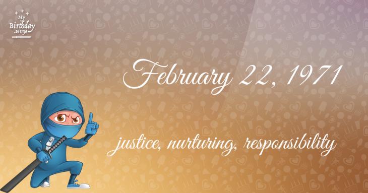 February 22, 1971 Birthday Ninja