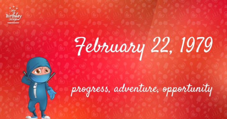 February 22, 1979 Birthday Ninja