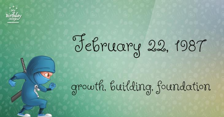 February 22, 1987 Birthday Ninja