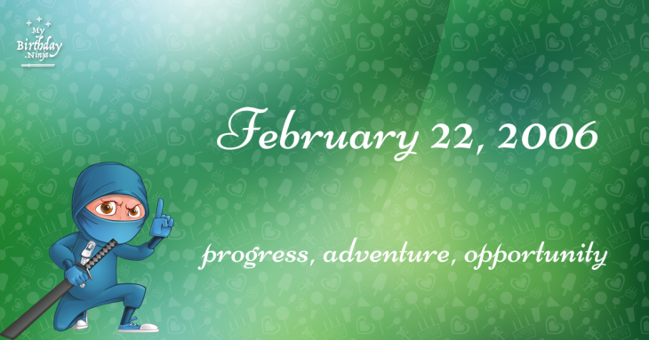 February 22, 2006 Birthday Ninja