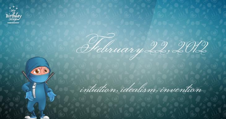 February 22, 2012 Birthday Ninja