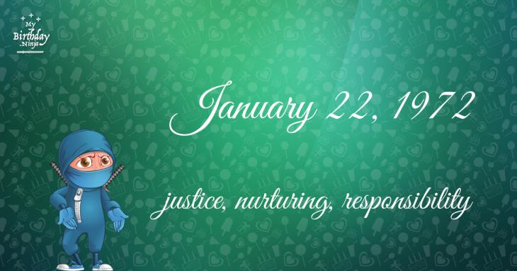 January 22, 1972 Birthday Ninja