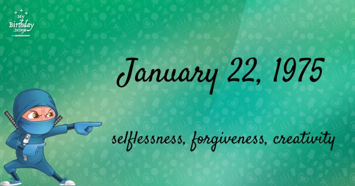 January 22, 1975 Birthday Ninja