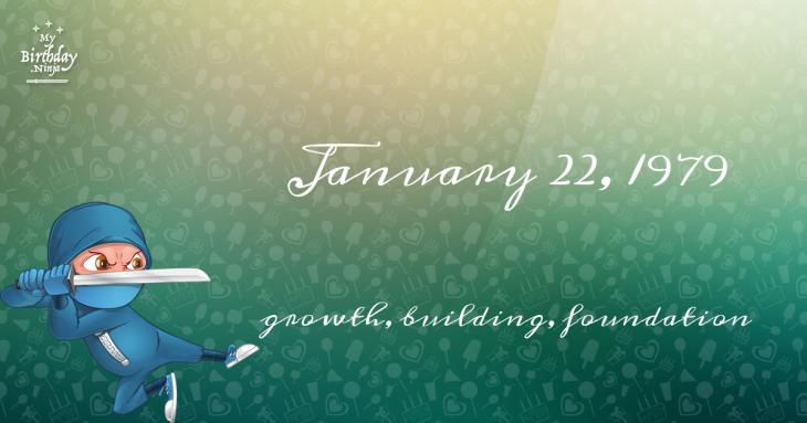 January 22, 1979 Birthday Ninja