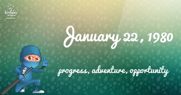 January 22, 1980 Birthday Ninja