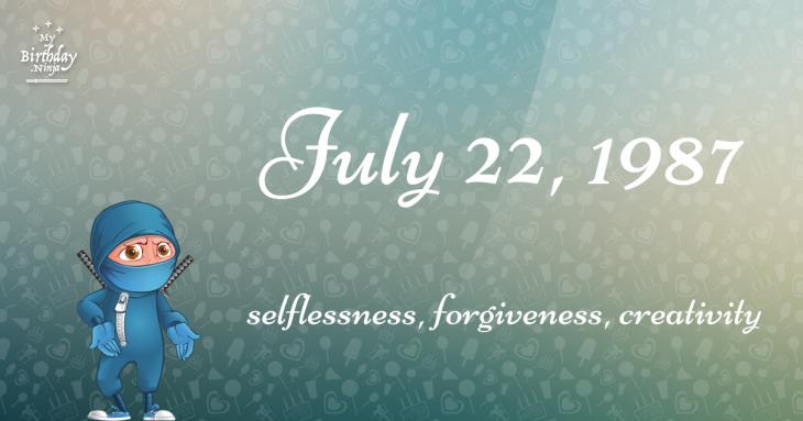July 22, 1987 Birthday Ninja