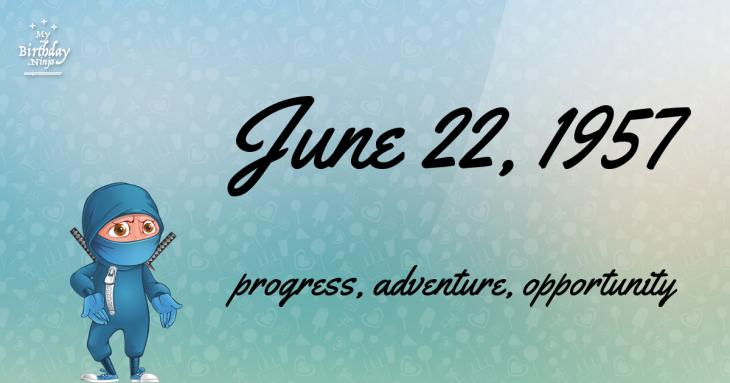 June 22, 1957 Birthday Ninja