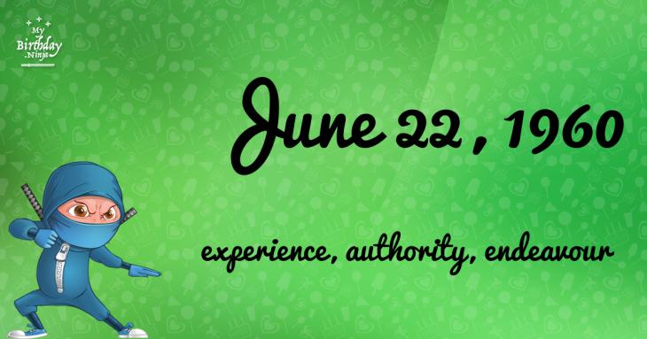 June 22, 1960 Birthday Ninja