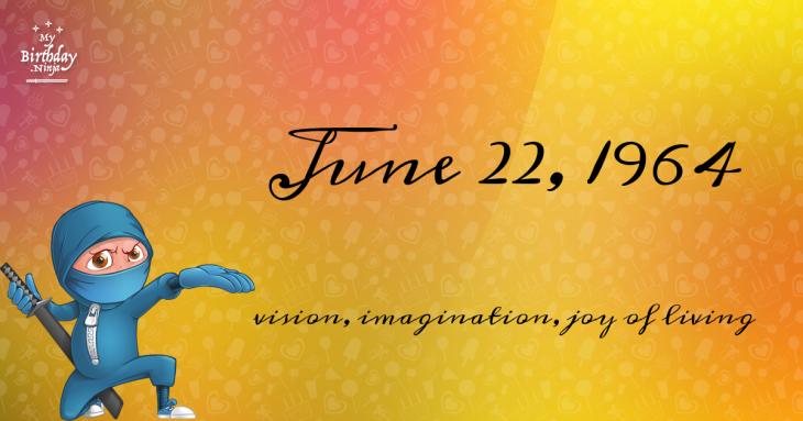 June 22, 1964 Birthday Ninja