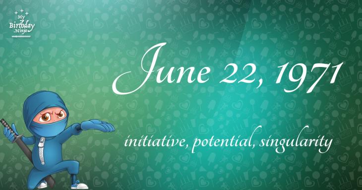 June 22, 1971 Birthday Ninja