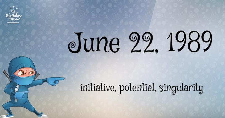 June 22, 1989 Birthday Ninja