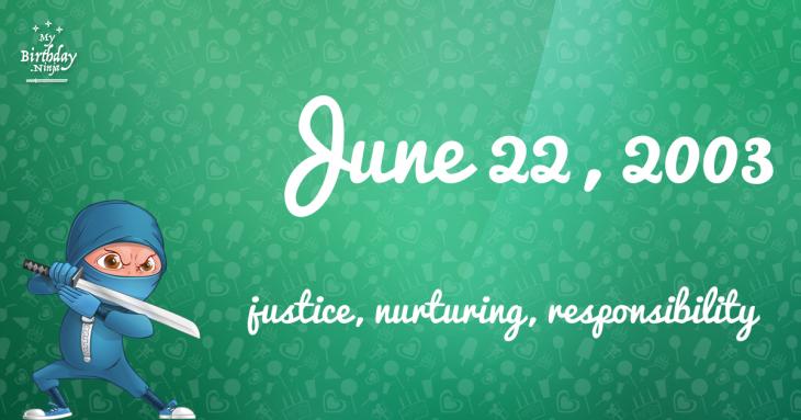 June 22, 2003 Birthday Ninja