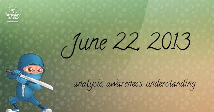 June 22, 2013 Birthday Ninja