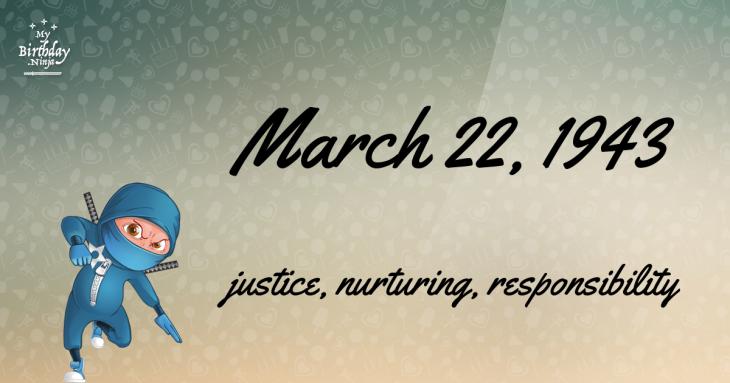 March 22, 1943 Birthday Ninja