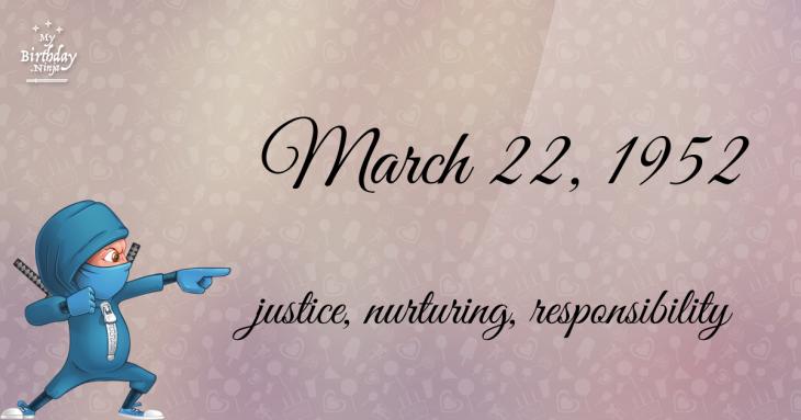 March 22, 1952 Birthday Ninja