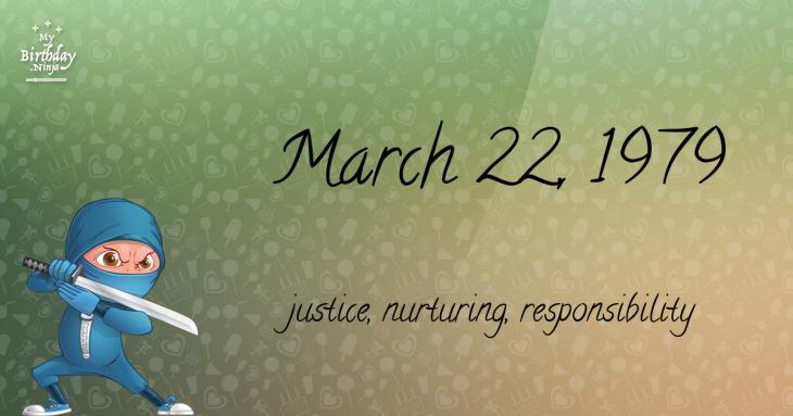 March 22, 1979 Birthday Ninja