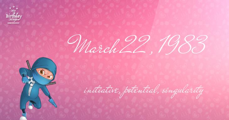 March 22, 1983 Birthday Ninja