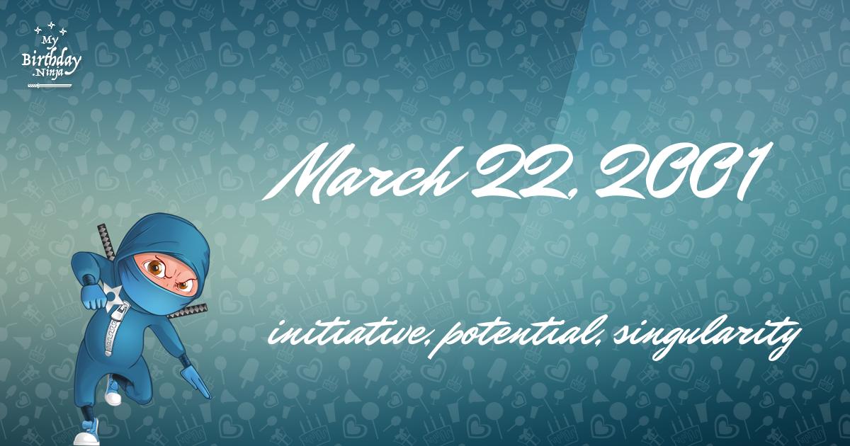 March 22, 2001 Birthday Ninja Poster