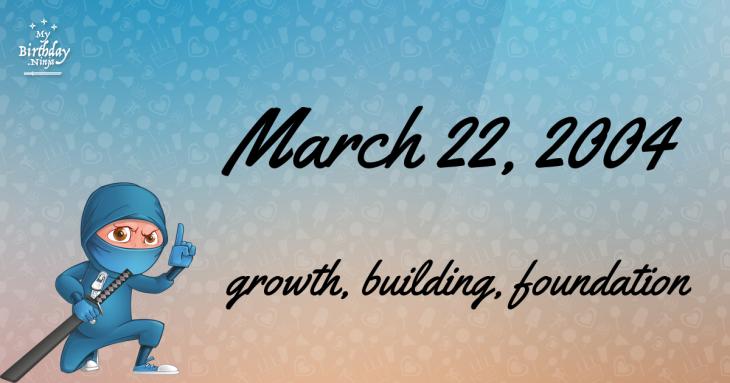 March 22, 2004 Birthday Ninja