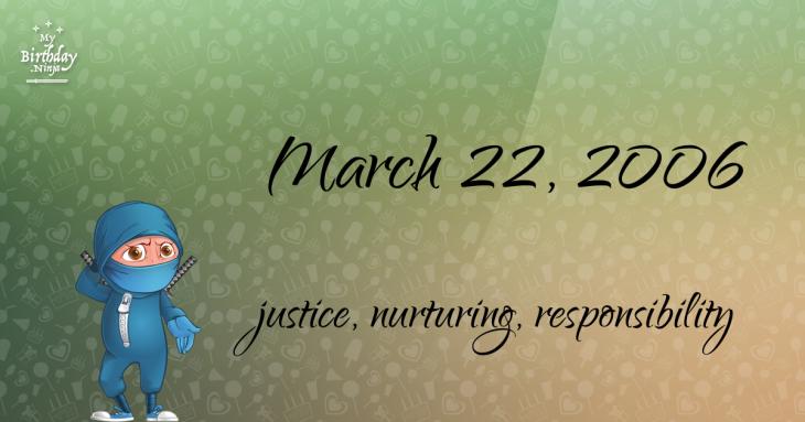 March 22, 2006 Birthday Ninja