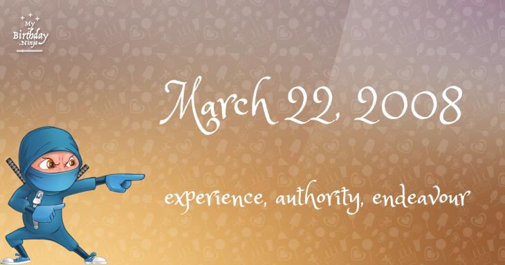 March 22, 2008 Birthday Ninja