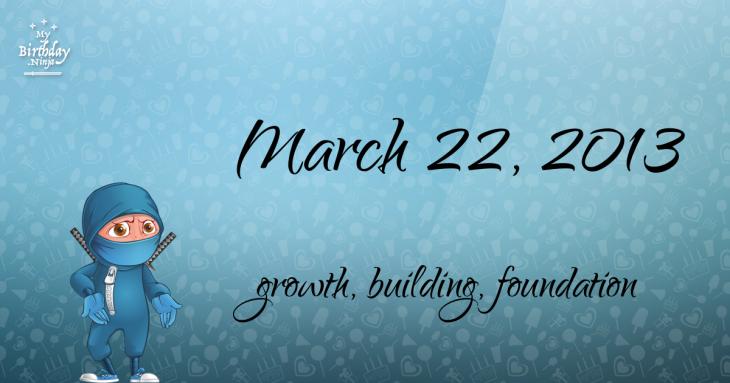 March 22, 2013 Birthday Ninja