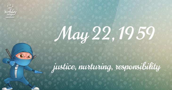 May 22, 1959 Birthday Ninja