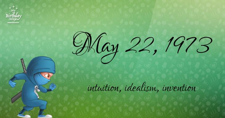 May 22, 1973 Birthday Ninja