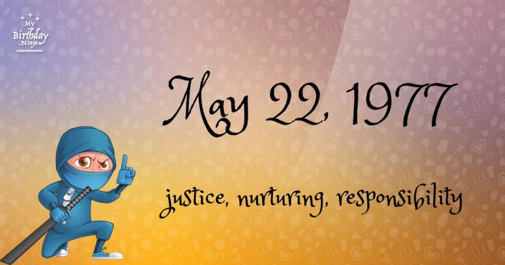 May 22, 1977 Birthday Ninja