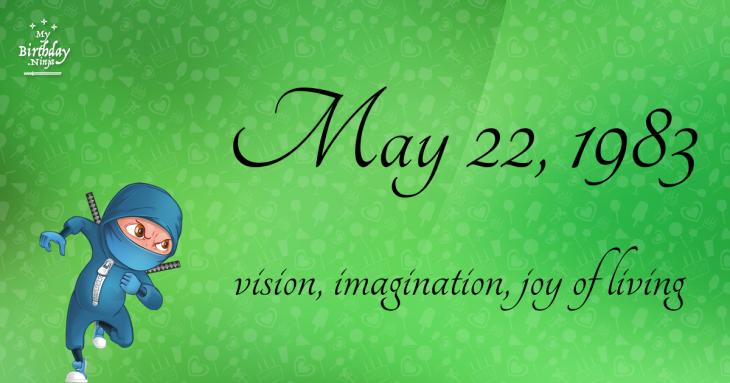 May 22, 1983 Birthday Ninja