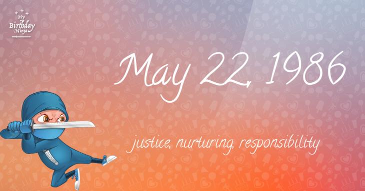 May 22, 1986 Birthday Ninja